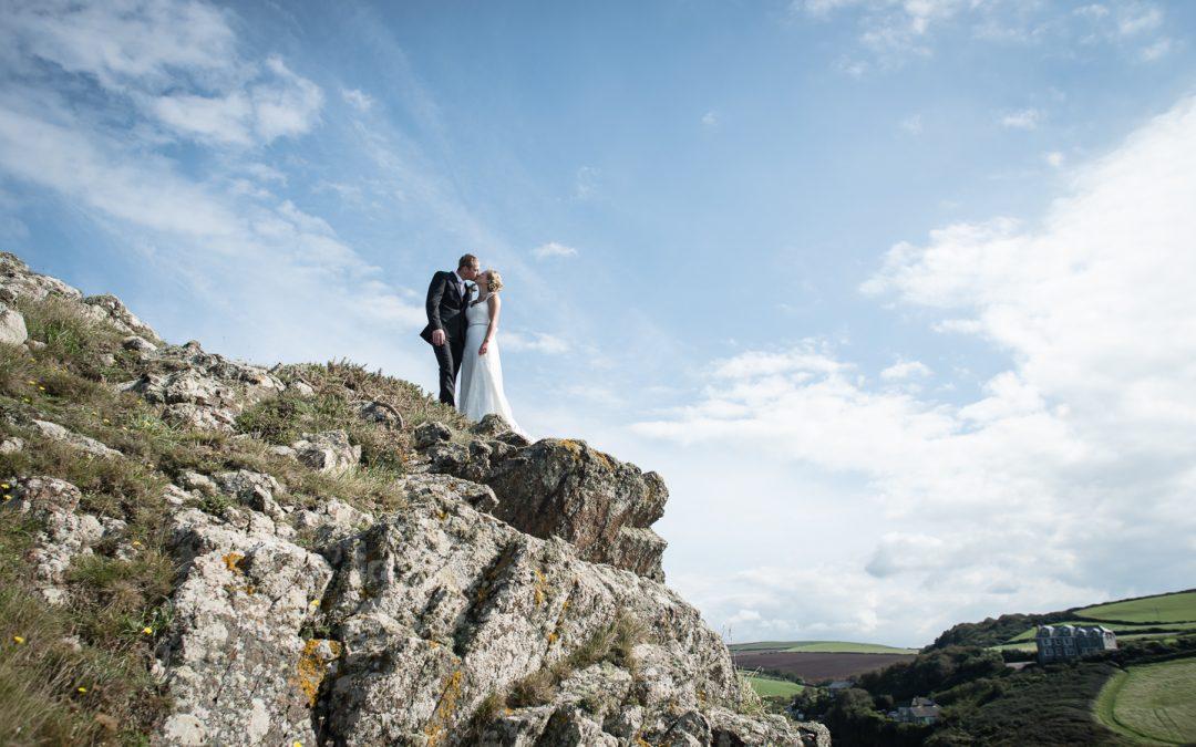 Stunning Cornish Coastal farm wedding