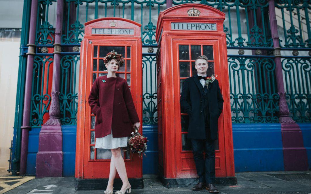Smithfields Market winter wedding