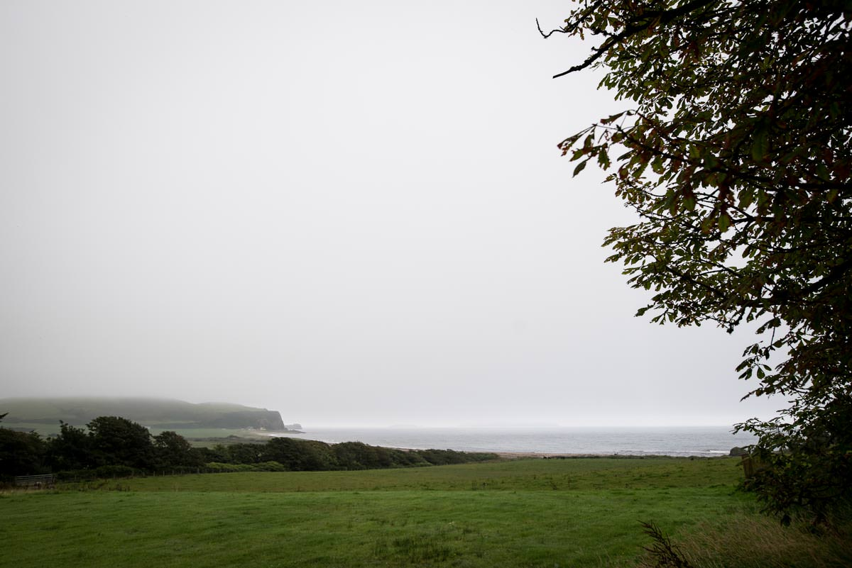 misty view out to sea from Mull of Kintyre