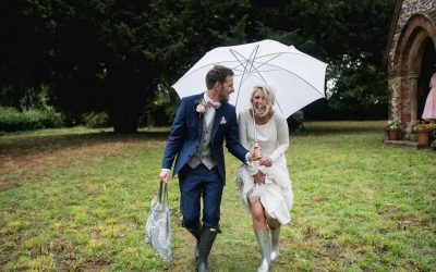Rainy Bank holiday wedding day